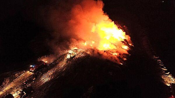 Ликвидация пожара на полигоне ТБО