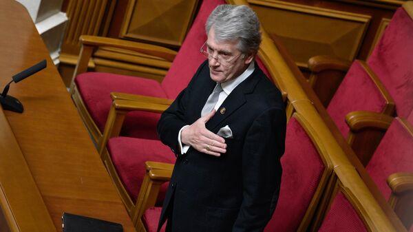 Экс-президент Украины Виктор Ющенко на заседании Верховной рады Украины