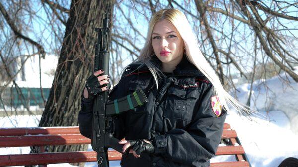 Победительница первого всероссийского ведомственного фотоконкурса Краса Росгвардии прапорщик полиции Анна Храмцова