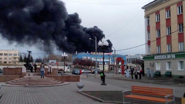 Пожар на заводе Красмаш в Красноярске