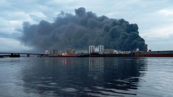 Пожар на заводе Красмаш в Красноярске. 26 апреля 2019