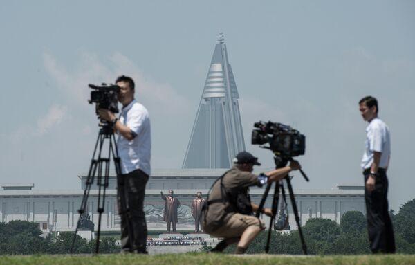Иностранные журналисты в Пхеньяне
