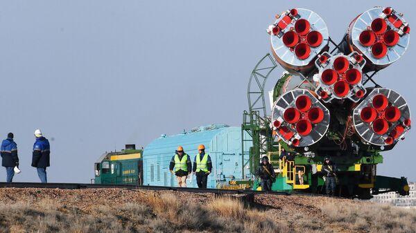 Транспортировка ракеты-носителя Союз-ФГ