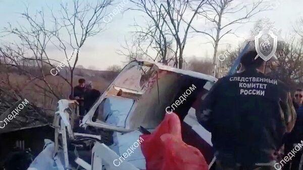 На месте падения легкомоторного самолета Як-18 под Хабаровском