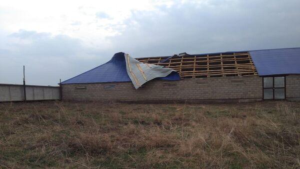 Сорванные ветром крыши в республике Башкортостан. 28 апреля 2019