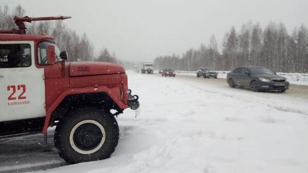 Снегопад в Свердловской области