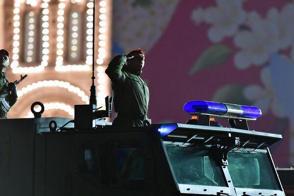 Бронеавтомобиль Тайфун-К на репетиции военного парада на Красной площади