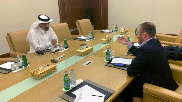 Министр энергетики Саудовской Аравии Халид аль-Фалих во время интервью