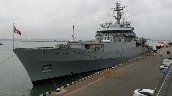 Гидрографический корабль ВМС Великобритании ЕCHO (Эхо) в порту Одессы