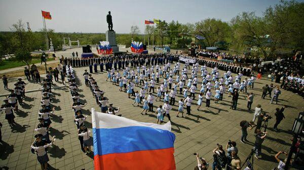 Акция Вальс Победы в Оренбурге