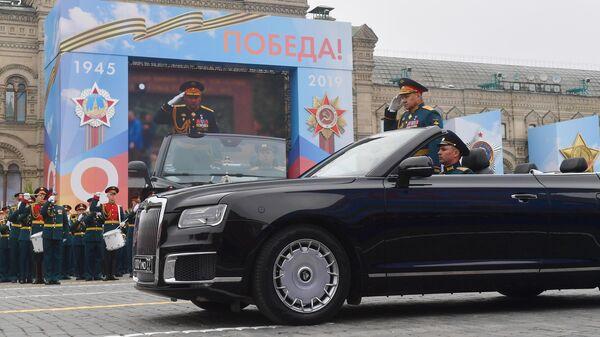 Министр обороны РФ Сергей Шойгу на военном параде на Красной площади, посвященном 74-й годовщине Победы в Великой Отечественной войне