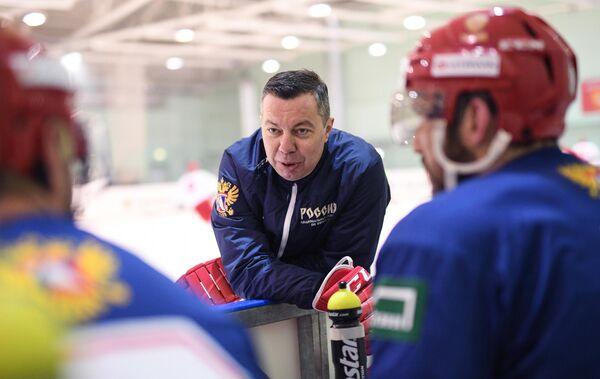 Главный тренер сборной России по хоккею Илья Воробьев