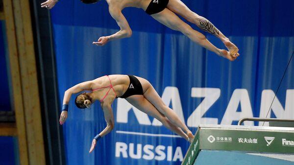 Прыжки в воду. Мировая серия FINA. Второй день