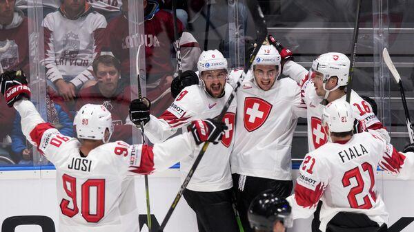 Сборная Швейцарии победила Австрию в матче чемпионата мира по хоккею