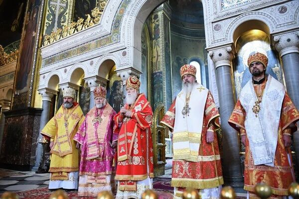 Служба патриарха Филарета во Владимирском соборе Киева. 14 мая 2019