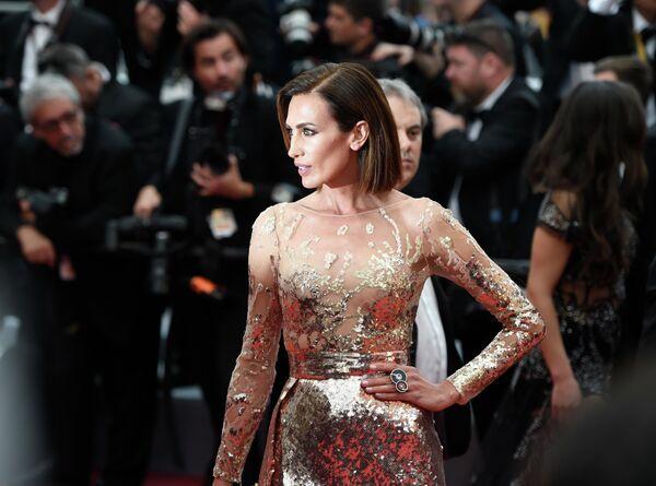 Испанская актриса Ниевес Альварес на красной дорожке церемонии открытия 72-го Каннского международного кинофестиваля