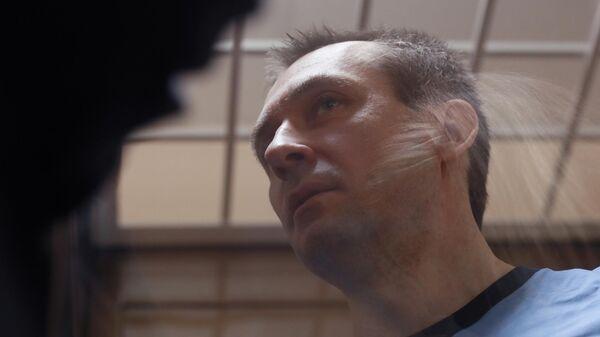 Бывший заместитель начальника ГУЭБиПК МВД РФ Дмитрий Захарченко на заседании Пресненского суда города Москвы. 15 мая 2019