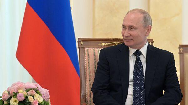Президент РФ Владимир Путин во время встречи с федеральным президентом Австрийской Республики Александром Ван дер Белленом