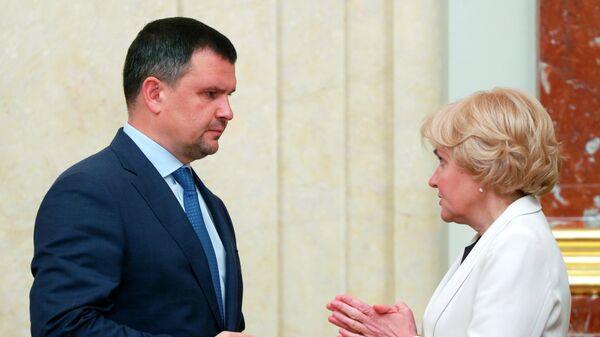 Заместители председателя правительства РФ Максим Акимов и Ольга Голодец