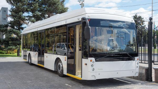 Троллейбус марки Мегаполис, произведенный на заводе Тролза в Саратове