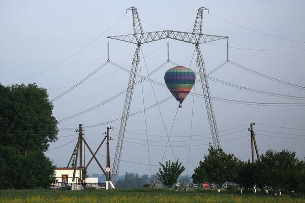 Воздушный шар на фестивале воздухоплавания Небесная ривьера в Краснодарском крае