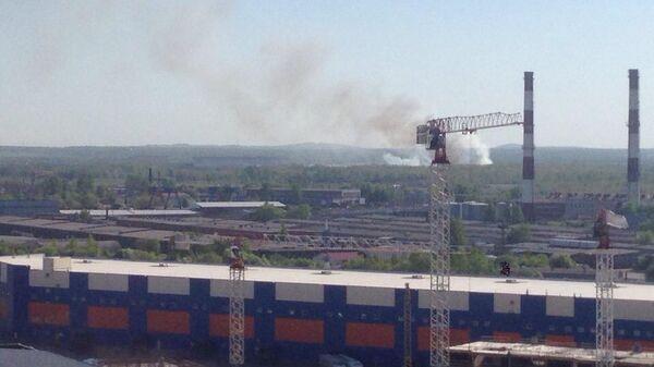 Пожар в Пушкинском районе Санкт-Петербурга