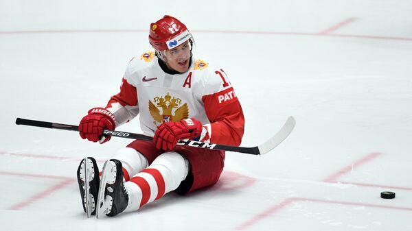 Игрок сборной России Евгений Малкин