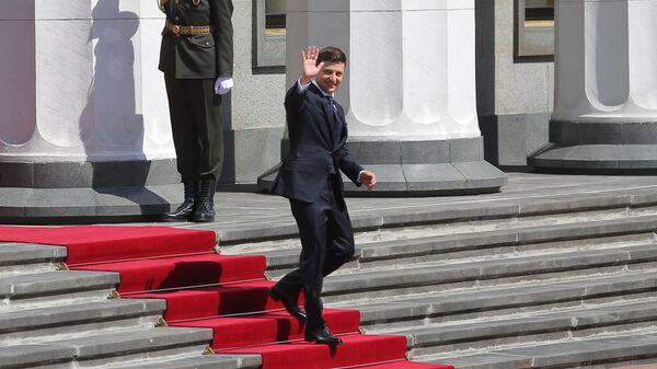 Президент Украины Владимир Зеленский после церемонии инаугурации в Верховной Раде в Киеве. 20 мая 2019