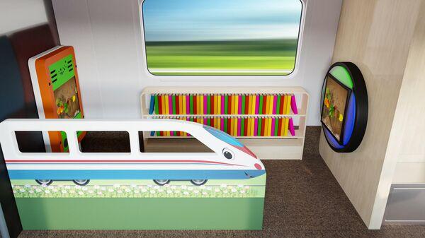 Обновленный интерьер высокоскоростного поезда Сапсан
