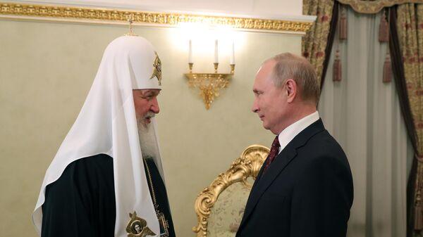 Президент России Владимир Путин поздравляет патриарха Московского и Всея Руси Кирилла с Днём тезоименитства. 24 мая 2019