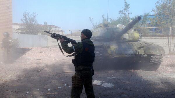 В Донецке сообщили о выстрелах из автоматов в районе аэропорта