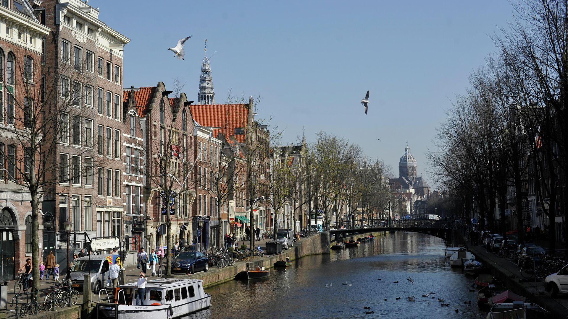 Вид на один из каналов в Амстердаме - РИА Новости, 1920, 04.06.2019