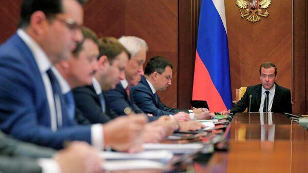 Председатель правительства РФ Дмитрий Медведев проводит заседание Наблюдательного совета государственной корпорации развития ВЭБ.РФ. 27 мая 2019