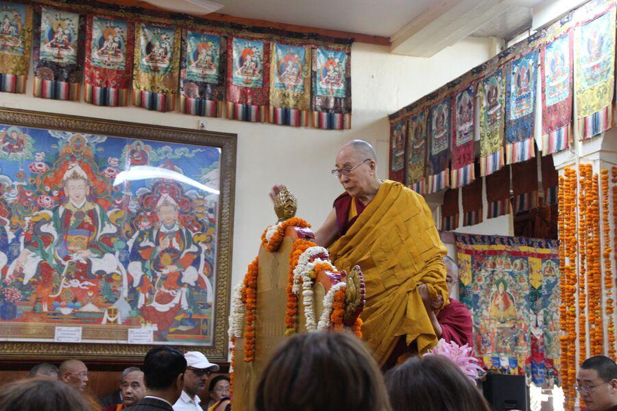 Далай-лама на ежегодных учениях для российских буддистов в Дхарамсале