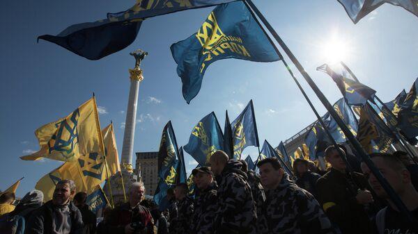 Акция в Киеве против коррупции в оборонной промышленности