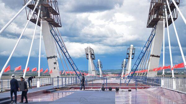 Cầu cao tốc đầu tiên nối giữa Nga và Trung Quốc (Видео)