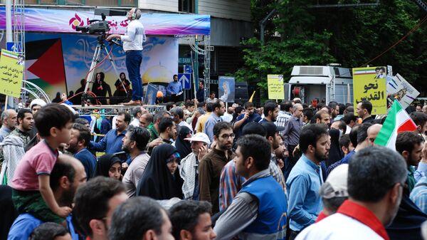 Шествие в Тегеране в поддержку палестинцев по случаю дня Аль-Кудс. 31 мая 2019