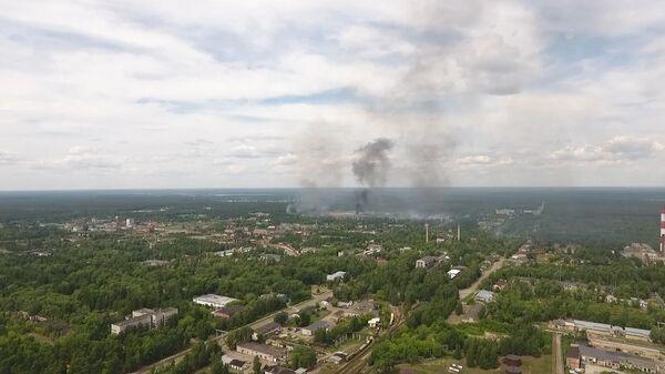 Взрывы на заводе в Дзержинске: аэросъемка с места ЧП