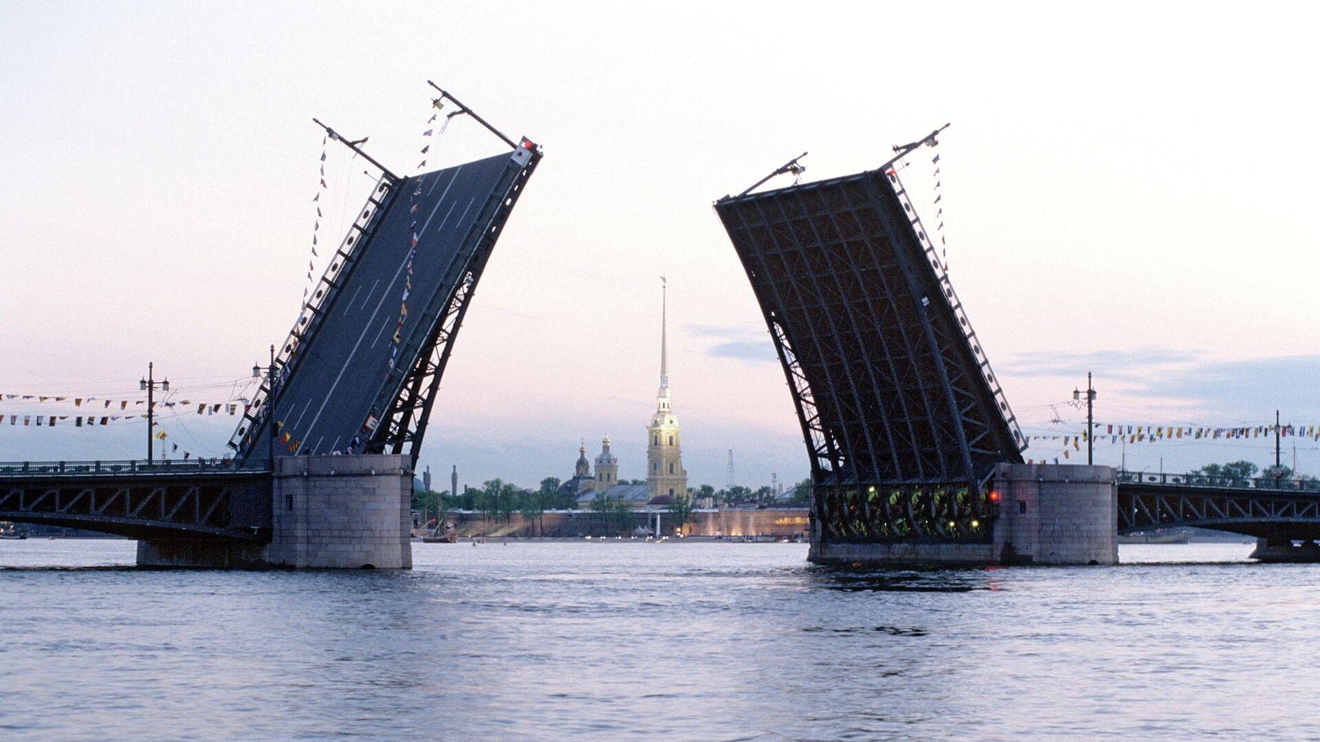 Дворцовый мост в Санкт-Петербурге - РИА Новости, 1920, 07.04.2021