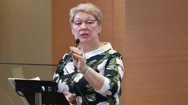 Министр просвещения РФ Ольга Васильева выступает на итоговом заседании коллегии министерства просвещения России