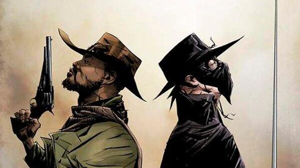 Обложка комикса Джанго/Зорро Квентина Тарантино