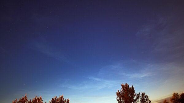 Серебристые облака над Самарой. 01 июня 2019