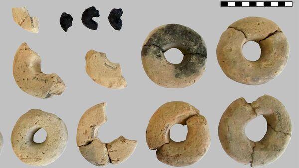 Глиняные кольца и сушки, найденные в поселении бронзового века в Австрии