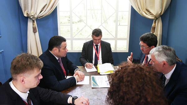 Встреча Игоря Рудени с Анатолием Штейнбергом, председателем наблюдательного совета Группы компаний SFT