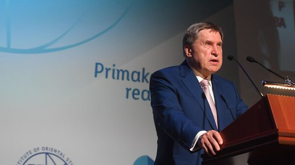 Помощник президента РФ Юрий Ушаков во время международного  форума Примаковские чтения