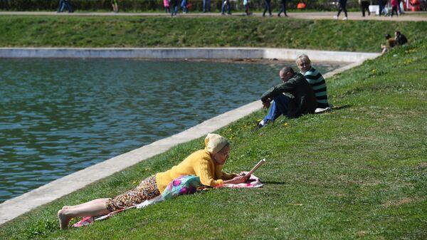 Отдых горожан в парках Москвы