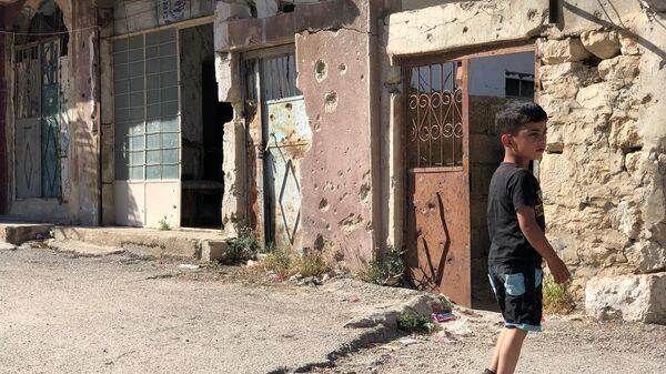Улица поселения Бейт Джан на сирийских Голанских высотах