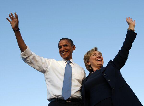 Барак Обама и Хилари Клинтон
