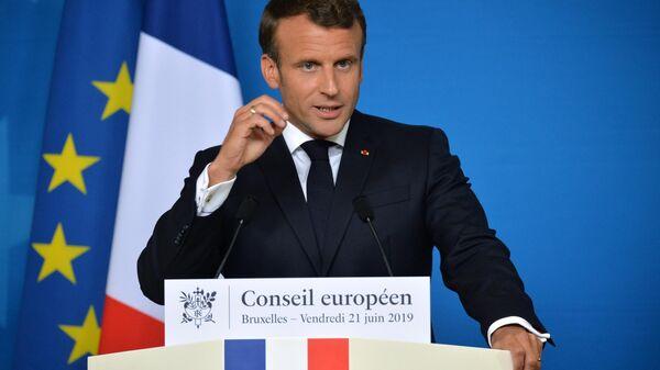 Президент Франции Эммануэль Макрон на саммите ЕС в Брюсселе. 21 июня 2019