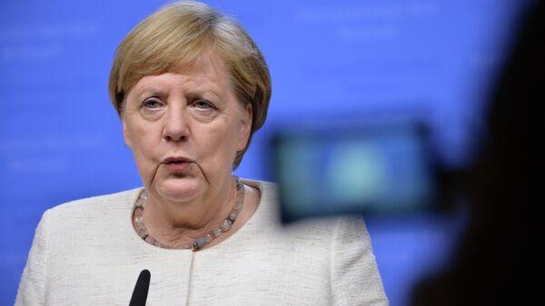 Ангела Меркель на саммите ЕС в Брюсселе